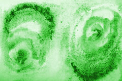 Abstract green watercolor on paper texture as background Royalty Free Stock Photo