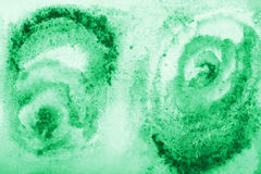 Abstract green watercolor on paper texture as background Royalty Free Stock Photography