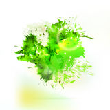 Abstract green watercolor splash element vector illustration
