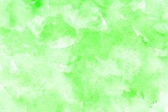 Abstract green watercolor on white background.The color splashing in the paper.It is a hand drawn royalty free stock photos