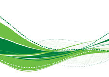 Abstract green wave. Abstract green multilayered wave. Vector Royalty Free Stock Photography