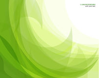 Abstract green wave background stock illustration