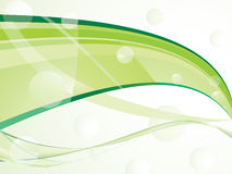 Abstract green wave background Stock Photos