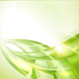 Abstract green wave background Stock Photo