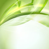 Abstract green wave background Royalty Free Stock Images