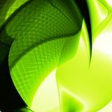 Abstract green, wave background Royalty Free Stock Image