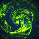 Abstract green, wave background Royalty Free Stock Photos