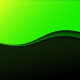 Abstract green wave background with stripes Stock Photography