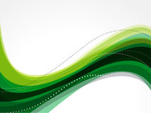 Abstract Green Wave Background Royalty Free Stock Photos