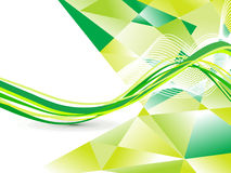 Abstract green wave background Stock Images