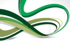 Abstract Green Wave Background Royalty Free Stock Photography