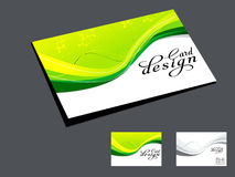 Abstract Green Wave Business Card Stock Image