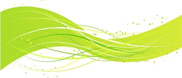 Abstract green wave design. Green abstract wave design with lines and dots Stock Photography