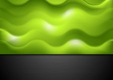 Abstract green waves background Stock Images