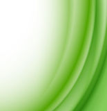 Abstract green waves background Stock Image