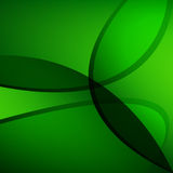 Abstract green waves background. vector wallpaper Stock Photo