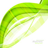 Abstract green waves - data stream concept. Vector Illustration Royalty Free Stock Images