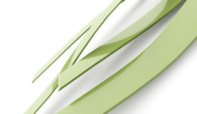 Abstract green waves lines on white Royalty Free Stock Photo