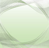 Abstract green waves - project for business Stock Image