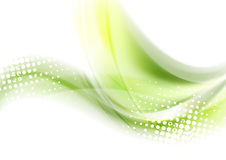 Abstract green waves vector background Stock Photos