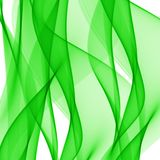 Abstract green waves on a white background. The color of spring and nature Royalty Free Illustration