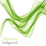 Abstract green waves on a white background. The color of spring and nature Vector Illustration