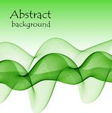 Abstract green waves on a white background. The color of spring and nature Stock Illustration