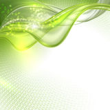 Abstract green waving background Royalty Free Stock Photography