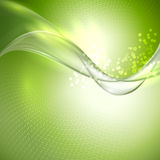 Abstract green waving background Stock Images
