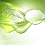Abstract green waving background Royalty Free Stock Image
