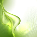 Abstract green waving background Royalty Free Stock Images