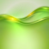 Abstract green waving background Stock Photography