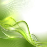 Abstract green waving background Stock Photo