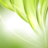 Abstract green waving background Royalty Free Stock Photo