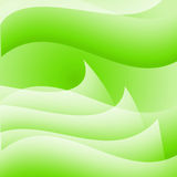 Abstract Green Wavy Background. Illustration of green background with waves Stock Image