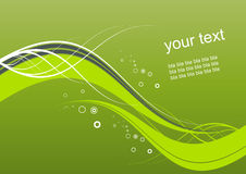 Abstract green wavy background Stock Photography