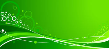 Abstract green wavy background with lines Royalty Free Stock Image