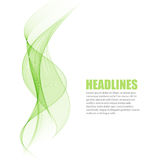 Abstract green wavy lines. Colorful vector background Royalty Free Stock Photo