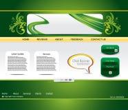 Abstract green web template Stock Photos