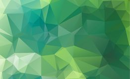 Abstract green which consist of triangles. Geometric background. In Origami style with gradient. Triangular design for your business Stock Image