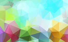 Abstract green which consist of triangles. Geometric background. In Origami style with gradient. Triangular design for your business Stock Photography