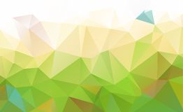 Abstract green which consist of triangles. Geometric background stock illustration