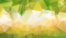 Abstract green which consist of triangles. Geometric background. In Origami style with gradient. Triangular design for your business Royalty Free Stock Images