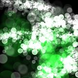 Abstract green white bokeh dark background. Abstract wallpaper white bokeh dark background Stock Photo