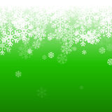Abstract green and white christmas background. With snowflakes Royalty Free Stock Image
