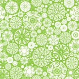 Abstract green and white circles seamless pattern Royalty Free Stock Photography