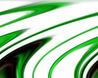 Abstract green white dark colors and background. Lines in motion. Abstract colors and lines in motion, green, phosphorescent, dark, white hues. Creative curves Stock Illustration