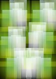 Abstract green white geometric patterns background Stock Photography