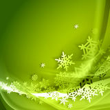 Abstract green winter background Stock Photo