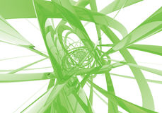 Abstract green wires. Study of form and color, 3D rendered image produced with Bryce Stock Photo